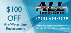 $100 off water line replacement